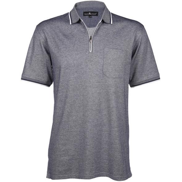 Herren Poloshirt mit Reißverschluss