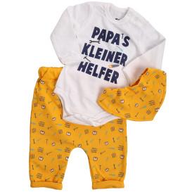 Baby Jungen Set bestehend aus Body, Hose und Halstuch