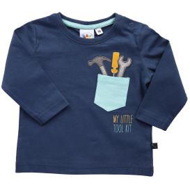 Baby Shirt mit Brusttasche und Stickerei-Applikation