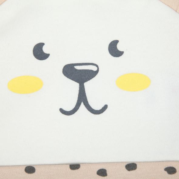 Baby Mütze mit Bärgesicht