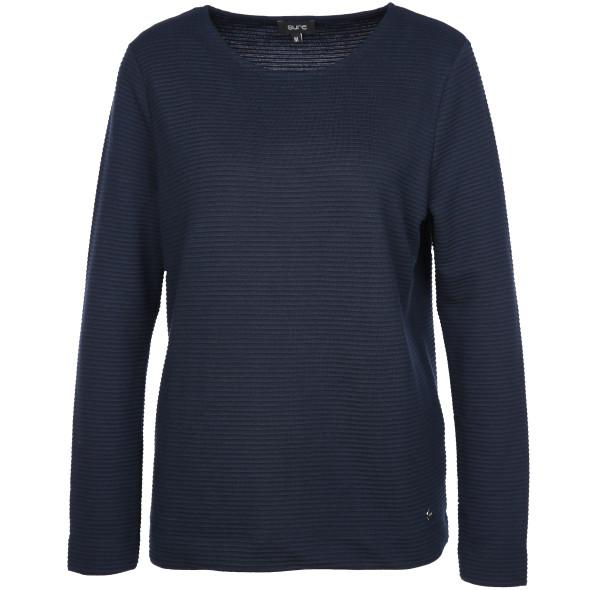 Damen Sweatshirt in Ripp-Optik