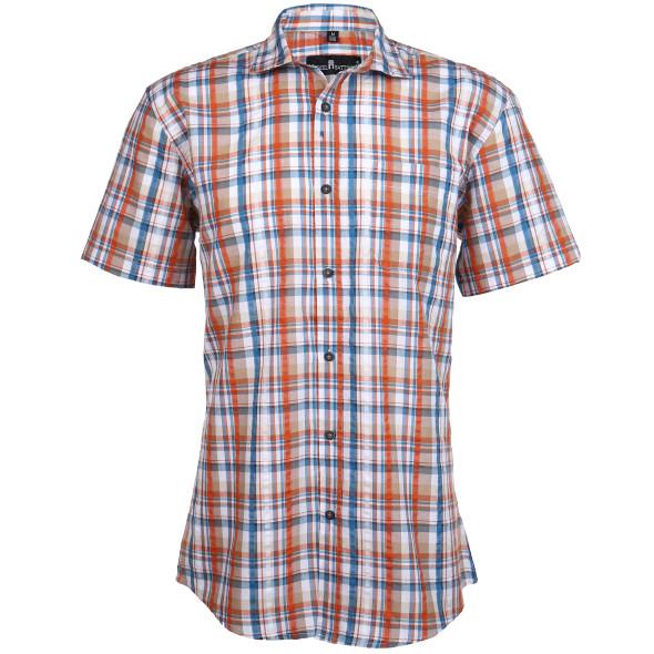 Herren Freizeithemd in Seersucker-Qualität
