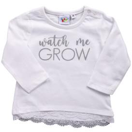 Baby Mädchen Longshirt mit Spitzenbesatz
