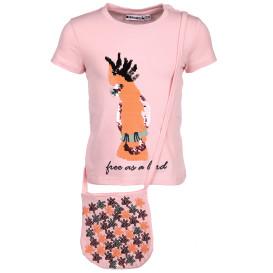 Mädchen T-Shirt mit Pailletten und Täschchen