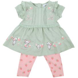 Baby Mädchen Set, 2tlg., best aus Kleidchen und Leggings