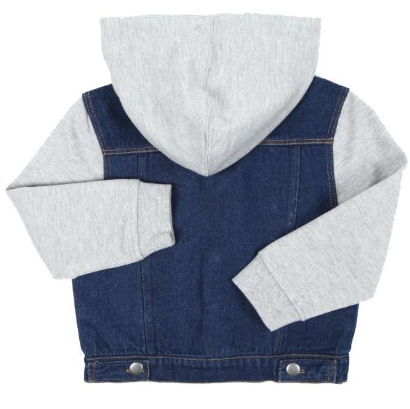 Jungen Jeansjacke mit Kapuze