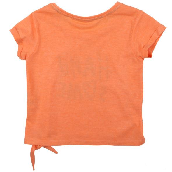 Mädchen Shirt mit Print und Knotendetail