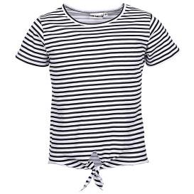 Mädchen Shirt mit Streifen und Knotendetail