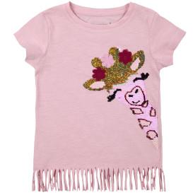 Mädchen Shirt mit Wendepailletten-Motiv