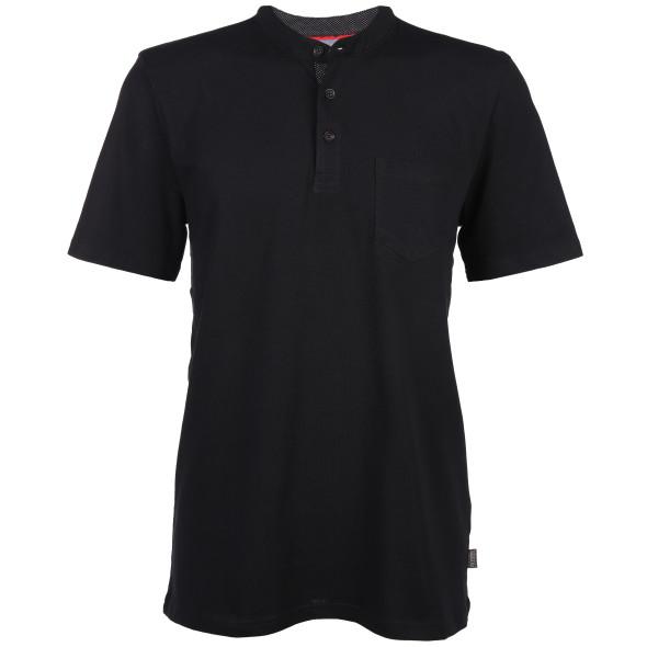 Herren Henley Shirt mit aufgesetzter Tasche