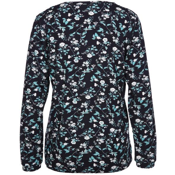 Damen Shirt mit Bindeband und Alloverdruck