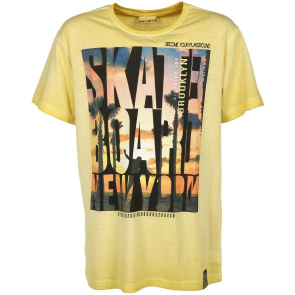 Jungen Shirt mit Frontprint im Used Look