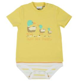 Baby Jungen Body mit Print im 2in1 Look