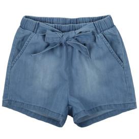 Mädchen Jeans Shorts mit Bindegürtel