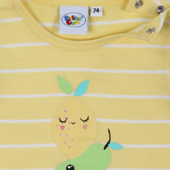 Baby Mädchen Longshirt mit Früchtemotiv