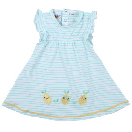 Mädchen Kleid mit Streifen und Applikation