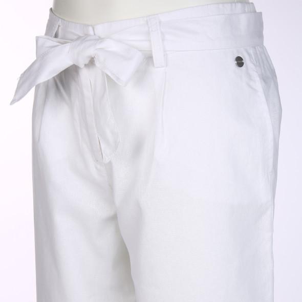 Damen Hose aus Baumwoll-Leinengemisch