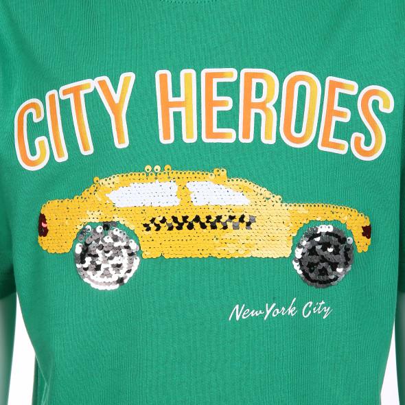 Jungen Shirt mit Pailletten-Motiv