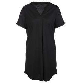 Damen Longshirt mit kleinem Stehkragen