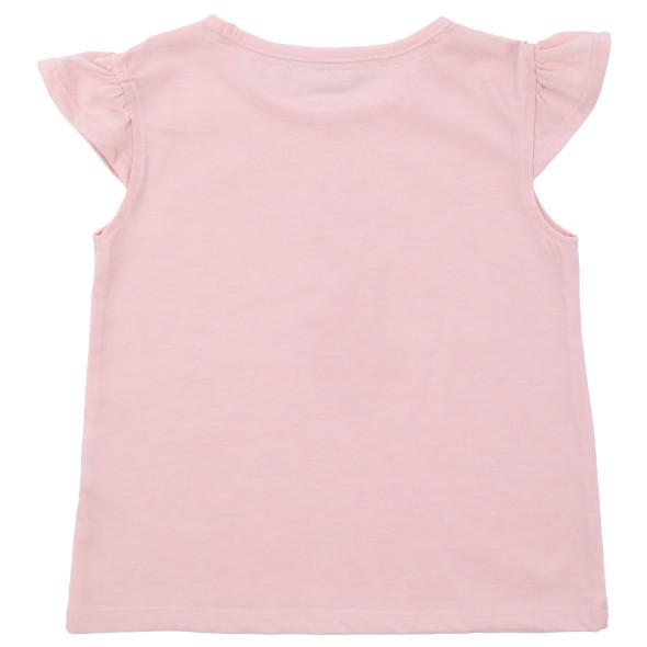 Mädchen Shirt mit Flügelärmelchen und Glitzerprint