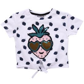 Mädchen Shirt mit Pailletten-Motiv