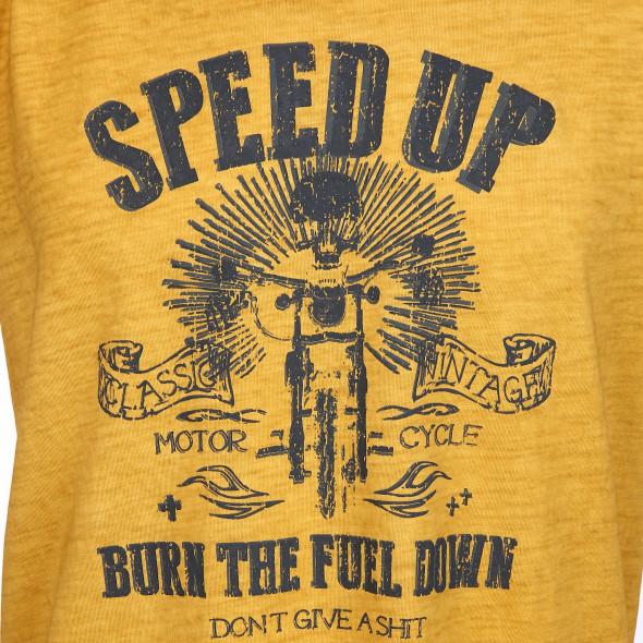 Herren T-Shirt mit Frontprint im Used Look