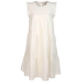 Damen Kleid mit Lochstickerei