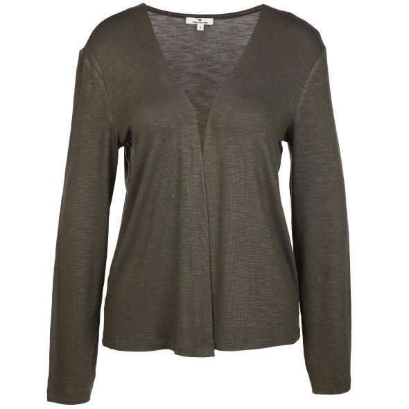 Damen Shirtcardigan in kurzer Form
