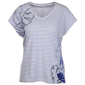 Damen Shirt mit V-Ausschnitt und Streifen