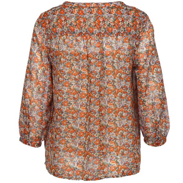Damen Chiffonbluse im Blumenprint