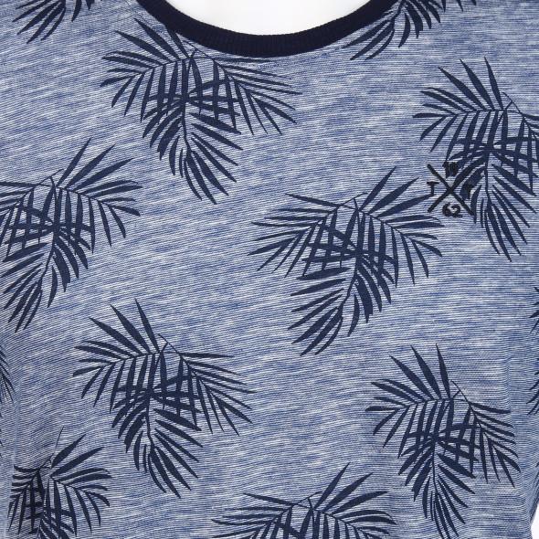 Herren Shirt im Allover Blätterprint