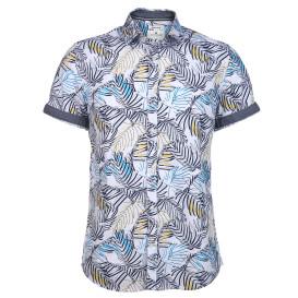 Herren Hemd im Blätterprint
