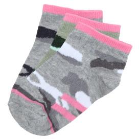 Mädchen Sneaker Socken im Camouflage Dessin im 3er Pack