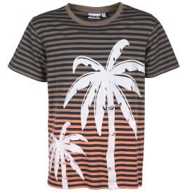 Jungen Shirt mit Streifen und Print