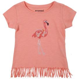 Mädchen Shirt mit Fransensaum
