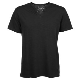 Herren Shirt mit Serafino Ausschnitt