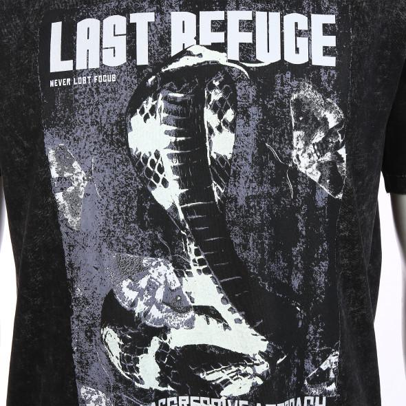 Herren Shirt mit Frontprint im Used Look