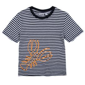 Jungen Shirt im Streifenlook mit Print