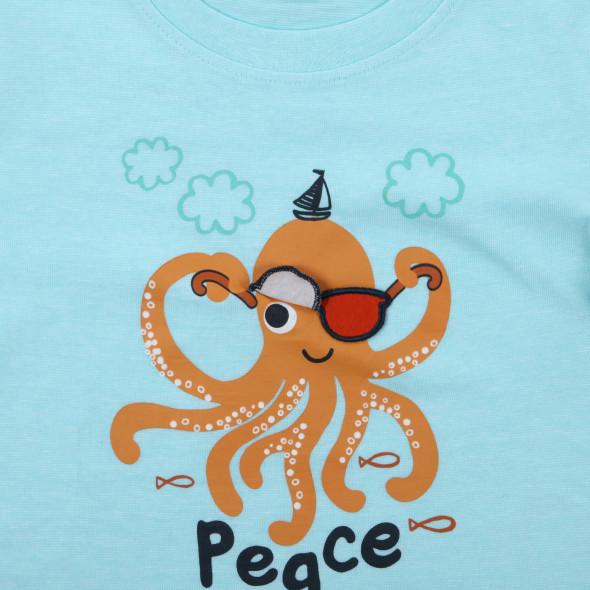 Jungen Shirt mit lustigem Wording-Print