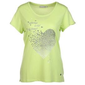 Damen Shirt mit Frontprint und Glitzereffekt