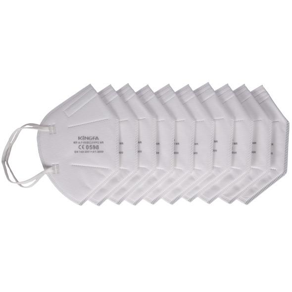 FFP2 Maske im 10er Pack - CE zertifizierter Mund- und Nasenschutz