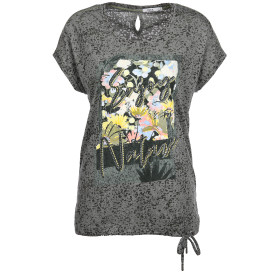 Damen Shirt mit Print und Nieten