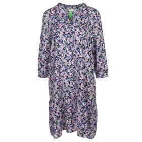 Damen Kleid mit 3/4 Ärmeln und Volant