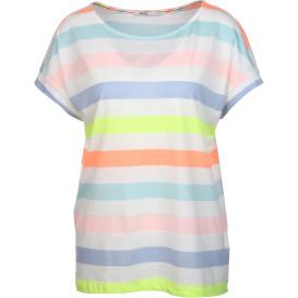 Damen Shirt mit multicolor Streifen