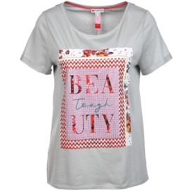 Damen Shirt mit Pailletten- Frontdruck