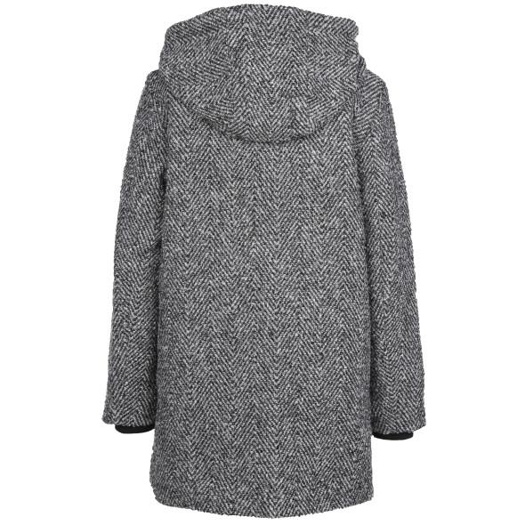 Damen Wollmantel mit Kapuze