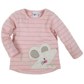 Baby Mädchen-Langarmshirt mit Stickerei-Applikation