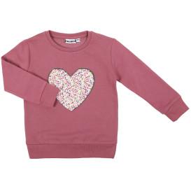 Mädchen Sweatshirt mit Paillettenmotiv