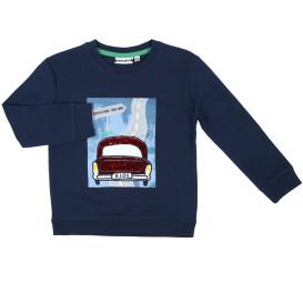 Jungen Sweatshirt mit Print und Paillettenmotiv