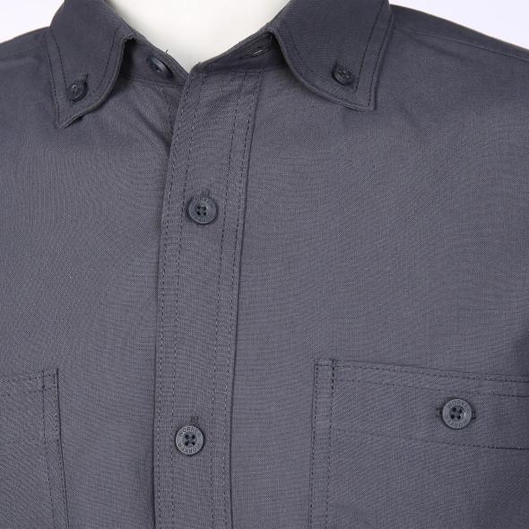 Herren Arbeitshemd mit Button-Down-Kragen